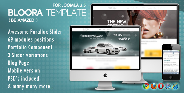Bloora Template for Joomla