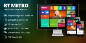 BT Metro - Responsive joomla 3.0 template