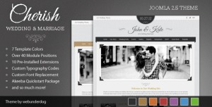 Cherish Joomla Marriage & Wedding Theme