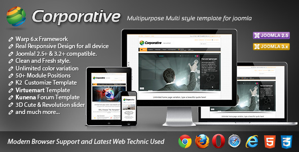 Corporative Responsive Joomla Template