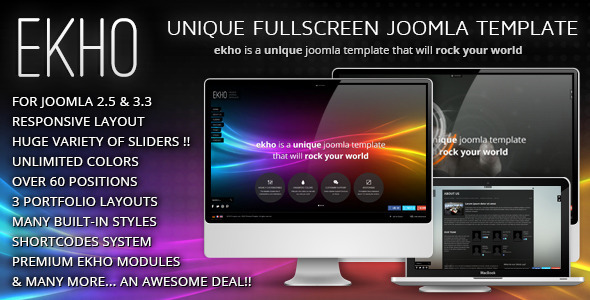EKHO Responsive Unique Joomla Template