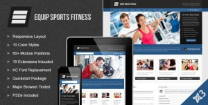 Equip Joomla Sports and Fitness Theme