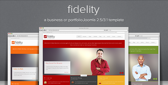 Fidelity - Clean Responsive Joomla Template