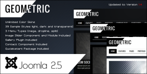 GEOMETRIC - Creative Joomla1.6 Theme