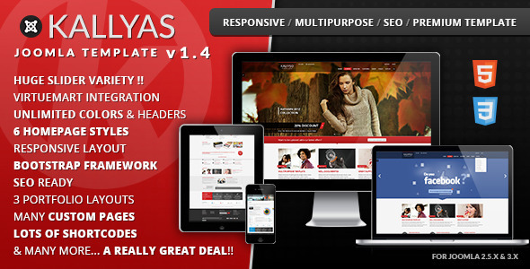 KALLYAS Responsive Multi-purpose Joomla Template