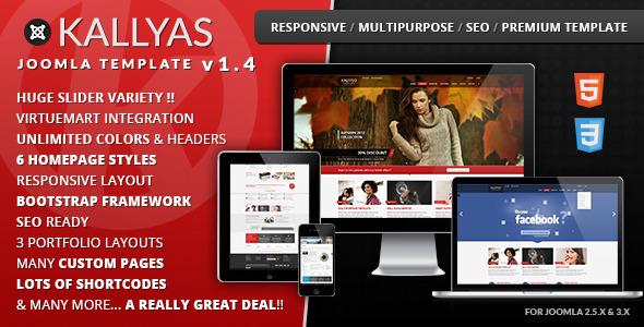 KALLYAS Responsive Multi-purpose Joomla Template