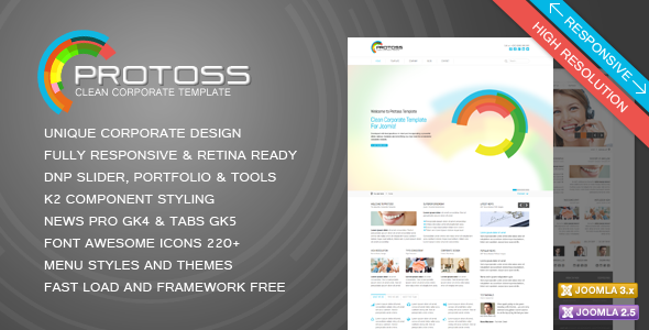 Protoss Clean Corporate Template For Joomla!Protoss Clean Corporate Template For Joomla!