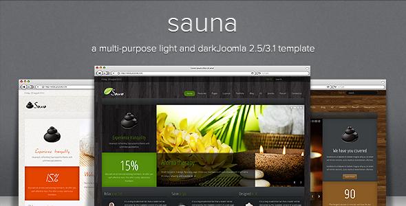 Sauna - Responsive Jooma Template