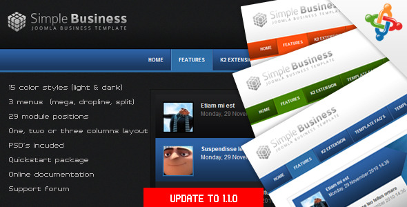 Simple Business - Premium Joomla Template