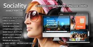 Sociality - Joomla Template