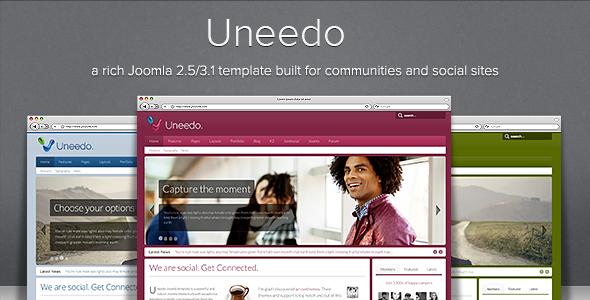 Uneedo - Responsive JomSocial Ready Joomla Template
