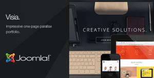 Visia - One Page Portfolio Joomla Template