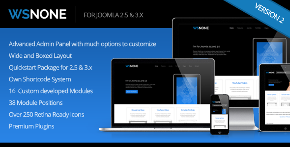 WS-None | Responsive & Clean Joomla Template