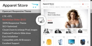 Apparel - Clothes Opencart Theme