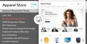 Apparel - Clothes Opencart Theme