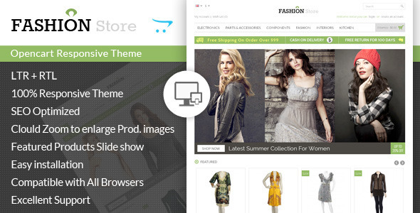 Fashion Store - Responsive Opencart Theme