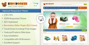 Kids Bookers - Opencart Responsive Theme