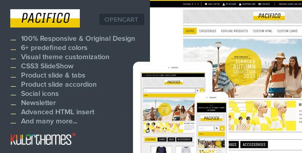 Pacifico – A subtle responsive OpenCart theme